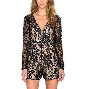 NWT Lovers + Friends Eve Lace Romper